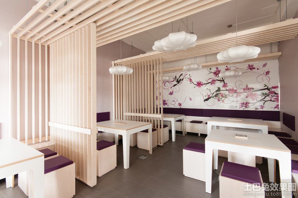 日式简约餐厅店面装修效果图