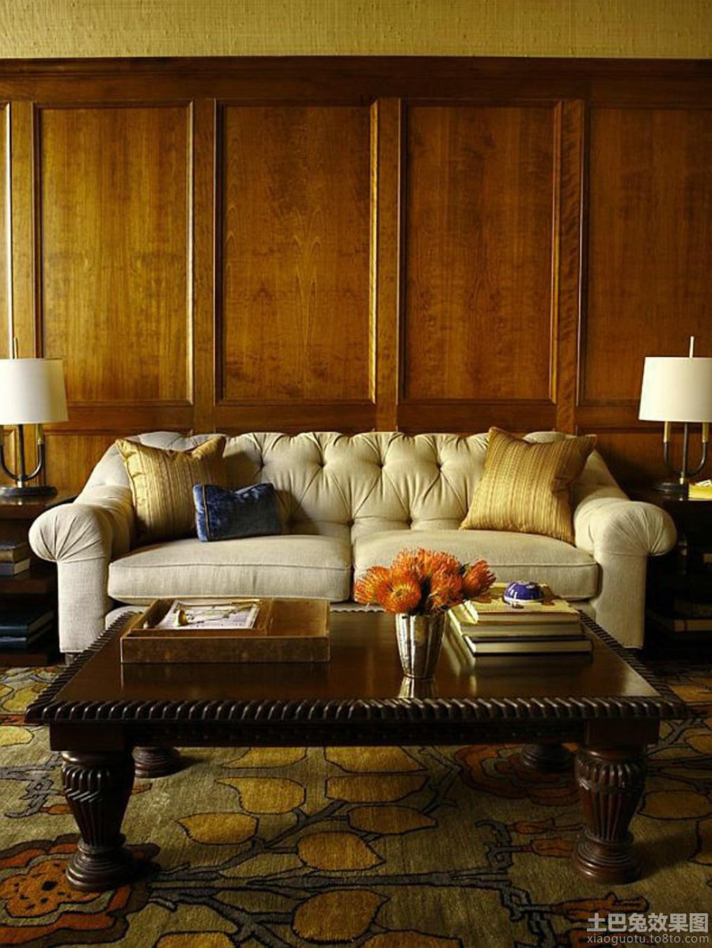 客厅原木护墙板图片装修效果图_第9张 - 家居图库