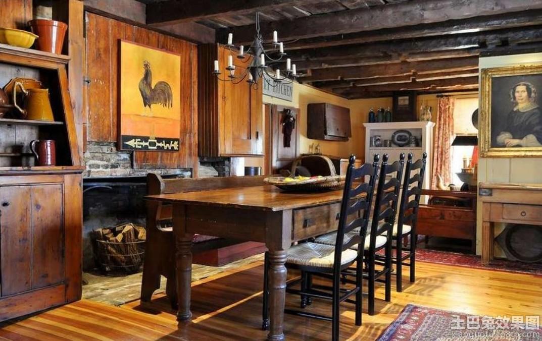 厨房原木装修效果图装修效果图