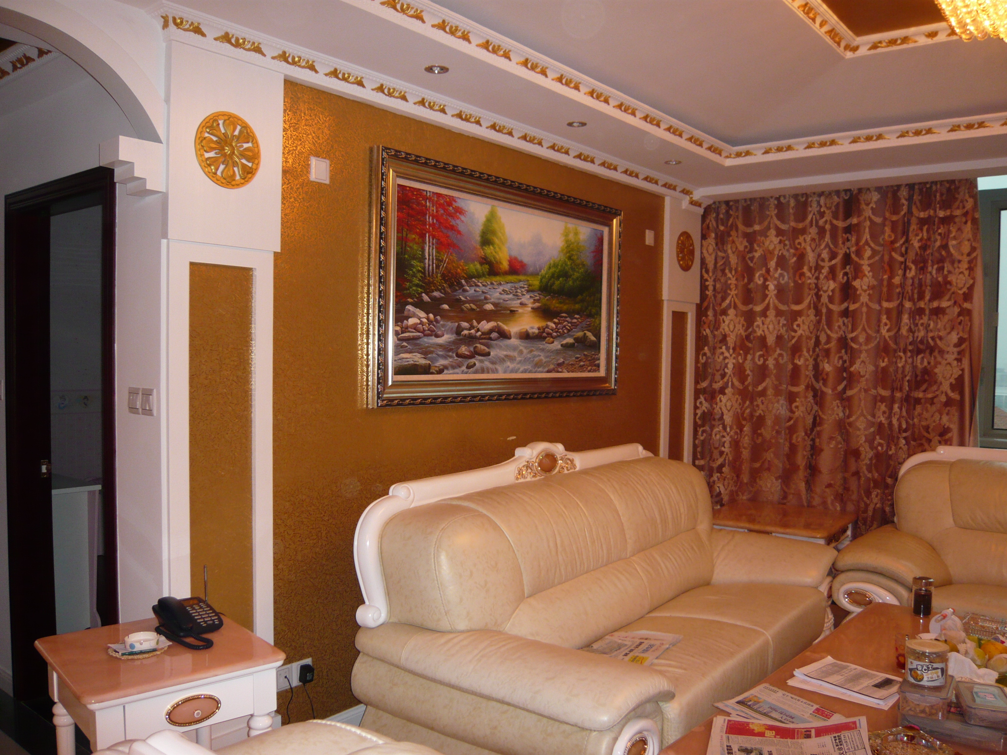 简约欧式风格客厅沙发墙挂画图片欣赏装修效果图