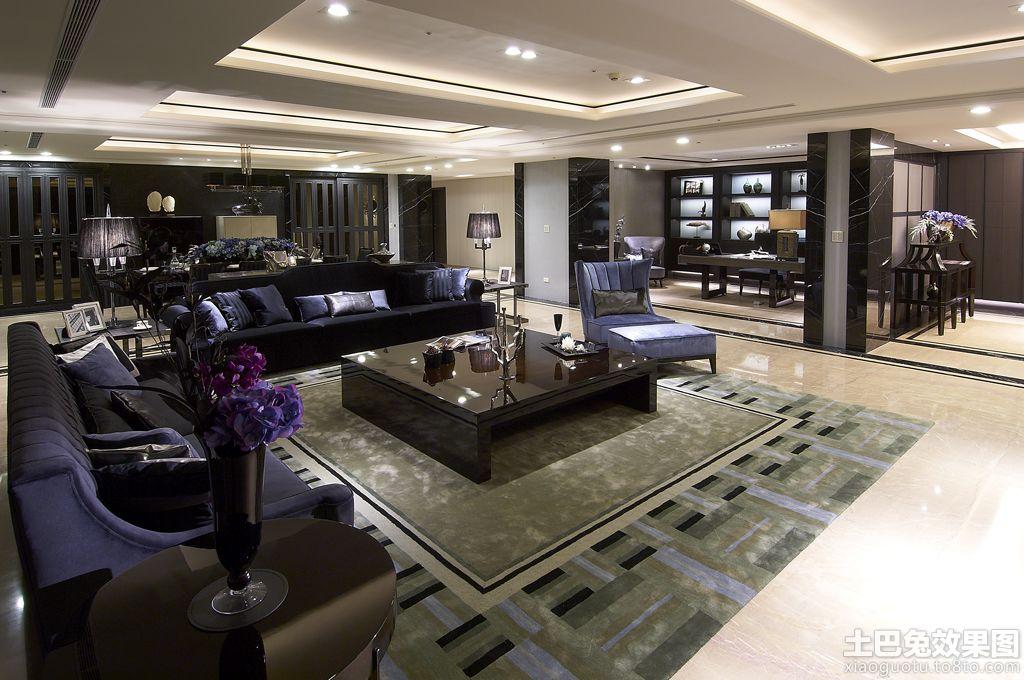 现代风格130平米房子装修效果图高清图片