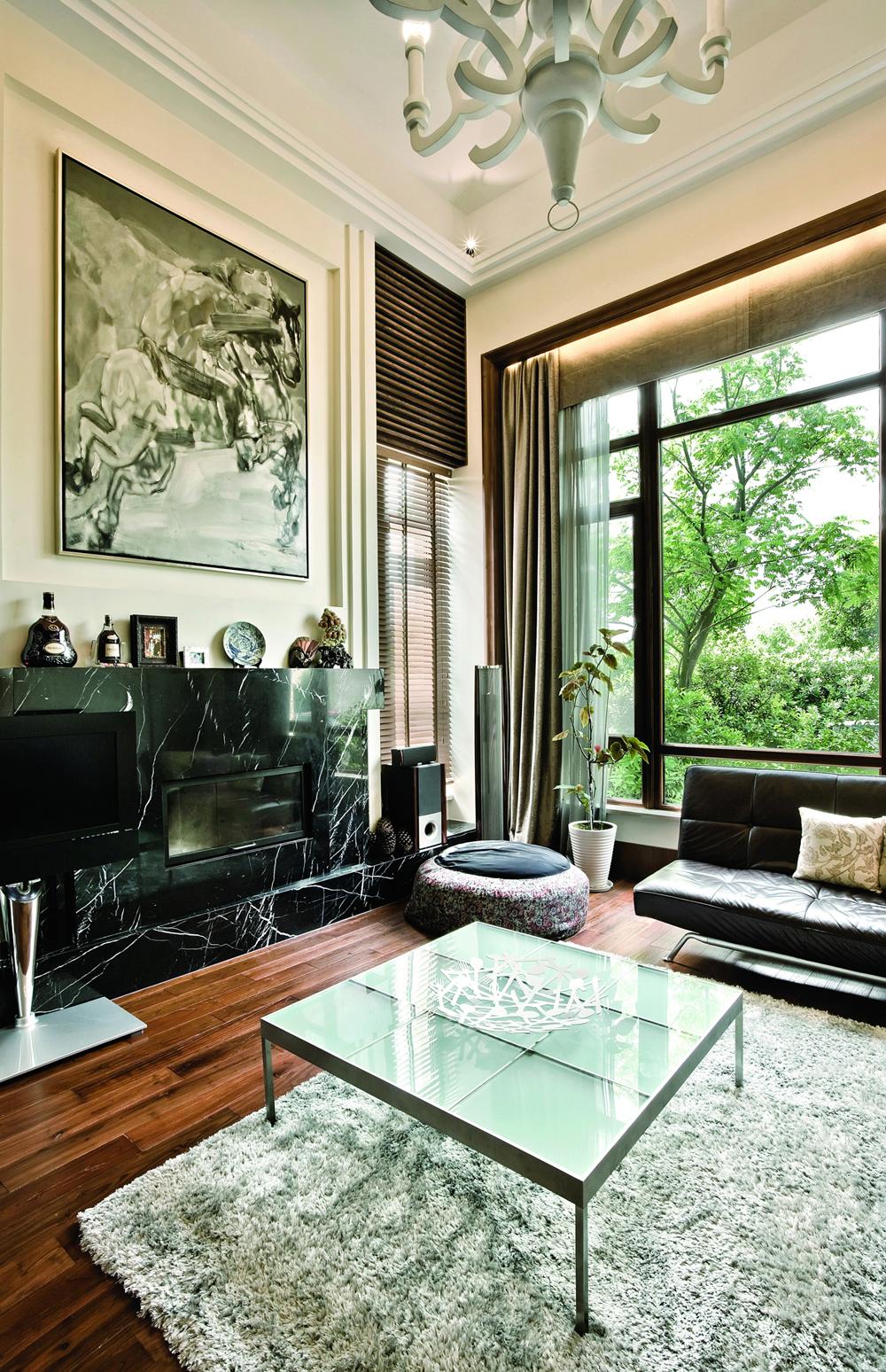 混搭风格别墅装修客厅图片欣赏