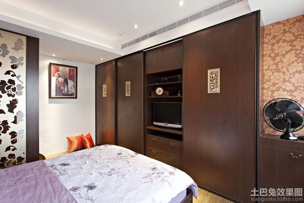 中式卧室电视柜装修效果图 (1/6)图片