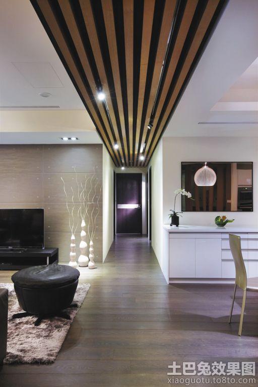 现代简约三房装修过道吊顶效果图装修效果图 第8张 家居图库 九正家高清图片
