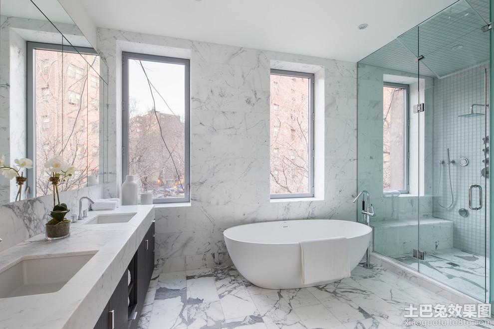 极简主义浴室装修设计图装修效果图