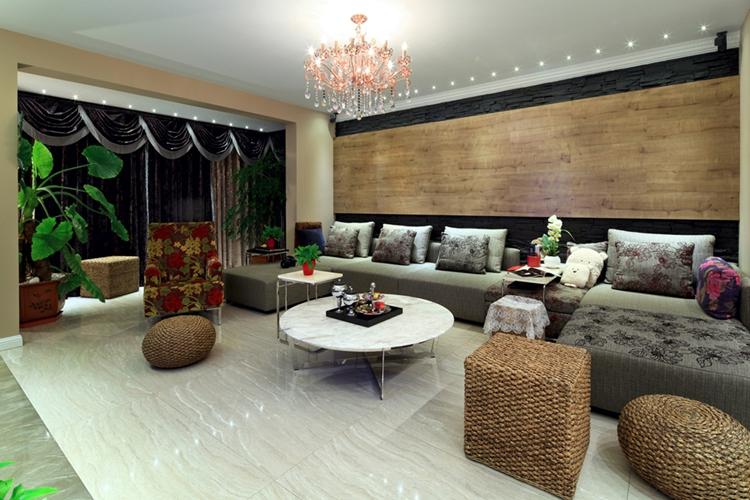 混搭风格三居室客厅效果图