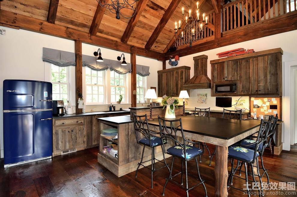 复古风格厨房装修设计2014装修效果图 第2张 家居图库 九正家居网