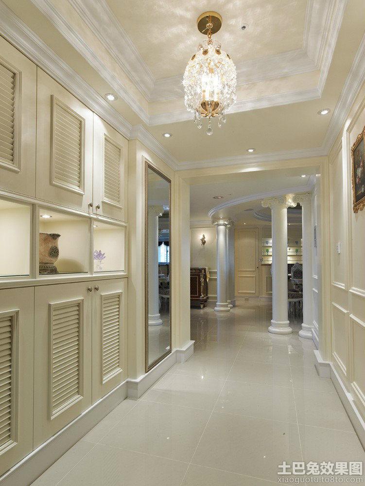 欧式别墅走廊玄关设计效果图装修效果图