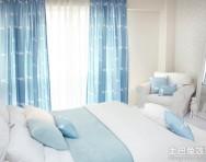 簡約客廳裝修窗簾圖片