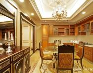 欧式三居客将九幻包围了起来厅电视背景墙样板房设计