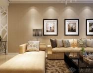 现代简约客厅壁纸电视背景墙装修效果图片