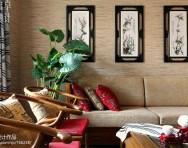 新中式兩室兩廳客廳裝修效果圖