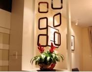 现代简约风格客厅电视机壁纸背景墙装修图片
