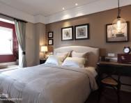现代美式客厅沙发茶几效果图