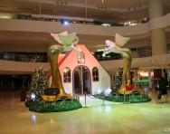 商場一樓大廳圣誕裝飾效果圖