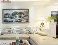 欧式风格100平米两室一厅客厅装修效果图