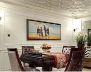 歐式風格別墅裝修客廳壁爐效果圖