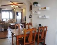 美式乡村风格两室两厅客厅吊顶装修效果图