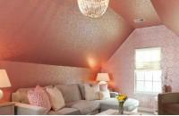 斜顶阁楼客厅装饰效果图片