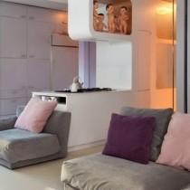 时尚二居室温馨客厅隔断装修效果图大全2012图片4