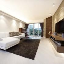 现代二居客厅电视背景墙装修效果图4