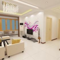 两室一厅客厅装修效果图大全3