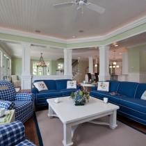 19万打造华美地中海风格二居客厅吊顶装修效果图大全2012图片4
