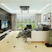 两室一厅现代客厅吊顶装修效果图大全2012图片2
