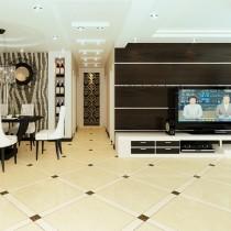 两室一厅现代客厅吊顶装修效果图大全2012图片1