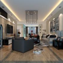 两房一厅新婚房装修 简约的客厅4
