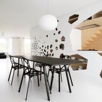 创意极简打造两室一厅餐厅装修效果图3