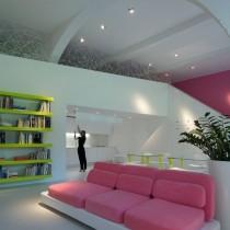 朦胧梦幻的二居室客厅吊顶装修效果图大全2012图片3