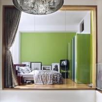绿色宁谧的两室一厅浪漫客厅装修效果2