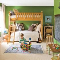 绿色宁谧的两室一厅浪漫客厅装修效果1