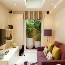 现代二居室小客厅吊顶效果图3