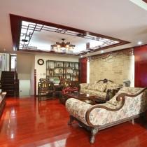 2013新中式客厅吊顶装修效果图欣赏9