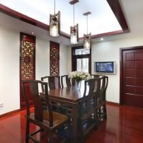 2013新中式客厅吊顶装修效果图欣赏7