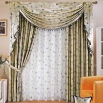 客厅窗帘装修效果图  2012年新款窗帘5