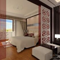 中式风格两室一厅客厅装修效果图3