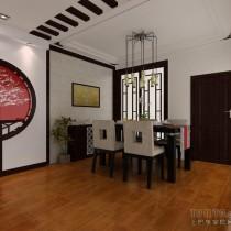 中式风格两室一厅客厅装修效果图2