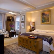 欧式卧室装修效果图 卧室橙色墙装修效果图4