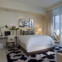 欧式卧室装修效果图 卧室橙色墙装修效果图2