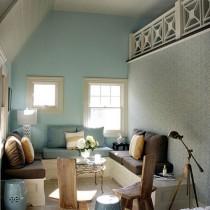 斜顶阁楼客厅沙发摆放装修效果图大全2013图片7