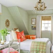 斜顶阁楼客厅沙发摆放装修效果图大全2013图片6