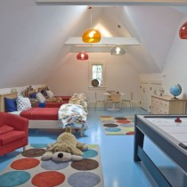斜顶阁楼客厅沙发摆放装修效果图大全2013图片5