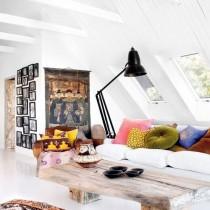 斜顶阁楼客厅沙发摆放装修效果图大全2013图片4