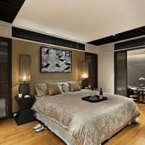 中式卧室装修效果图  现代中式卧室装修设计图片5