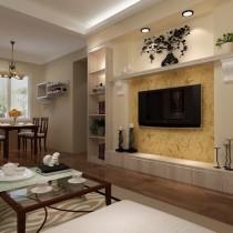 客厅装修效果图欣赏 50款电视背景墙装修效果图8