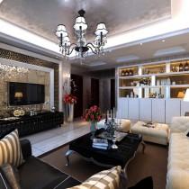 客厅装修效果图欣赏 50款电视背景墙装修效果图6