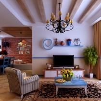 客厅装修效果图欣赏 50款电视背景墙装修效果图5